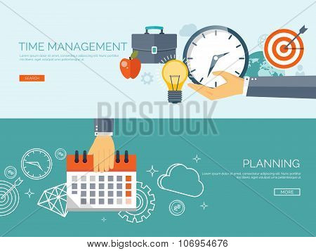 Clock flat icon. World time concept. Business background. Internet marketing. Daily infographic. Cal