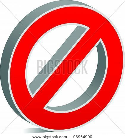 Prohibition restriction no entry sign. For no access prevention themes. poster
