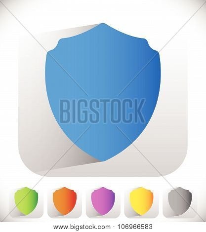 Shield Shape For Protection, Defence Concept. Vector.