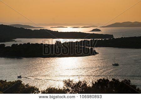 Sunset Over Kornati Islands