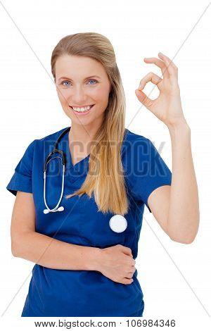 Portrait Of Happy Smiling Female Doctor