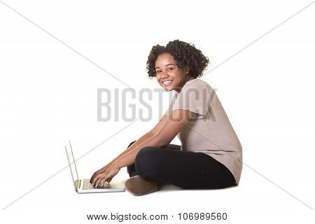 Teen on a computer
