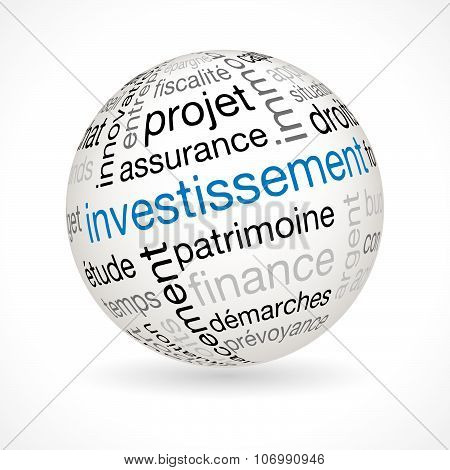 French Investment Theme Sphere With Keywords