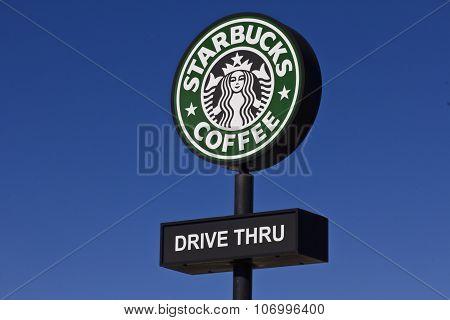 Indianapolis - Circa November 2015: Starbucks Retail Coffee Store. Starbucks is an American Retail Coffee Chain II