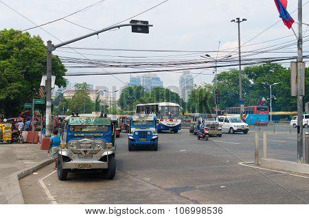 Jeepneys In Manila, Philippines