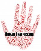 Stop Human Trafficking Representing Forced Marriage And Crime poster