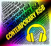 Contemporary R&B Indicating Rhythm And Blues And Modern Day poster