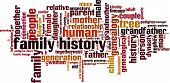 Family history word cloud concept. Vector illustration poster