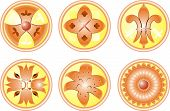 icon set flower abstract icons illustration element for design poster