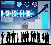 Business Ethics Integrity Moral Responsibility Concept poster