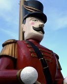 a very large soldier often seen on christmas and reminds one of the nutcracker poster