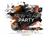 Flyer, Banner or Poster for 2016 New Year's Eve Party celebration. poster