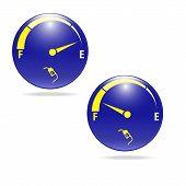 Fuel gauge Gas meter sign vector illustration poster
