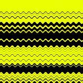 Zig zag edgy horizontal lines texture. Vector image. poster