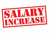 SALARY INCREASE red Rubber Stamp over a white background. poster