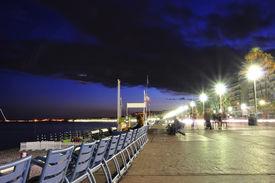 Promenade Des Anglais At Night