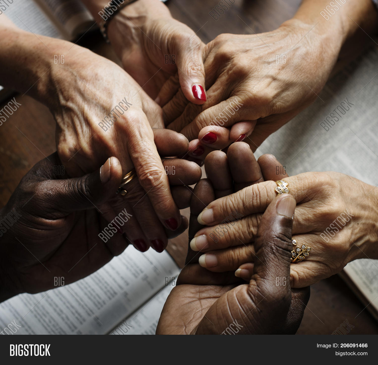 Group People Holding Hands Praying Image & Photo | Bigstock