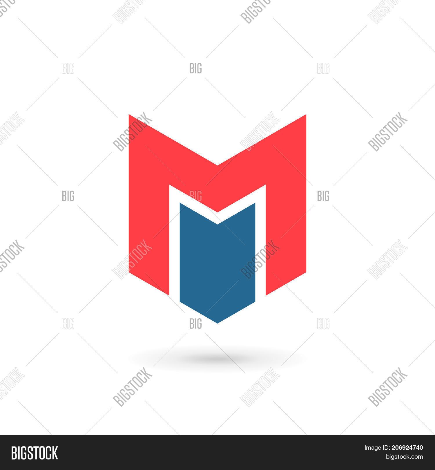 Letter M Shield Logo Vector Photo Free Trial Bigstock