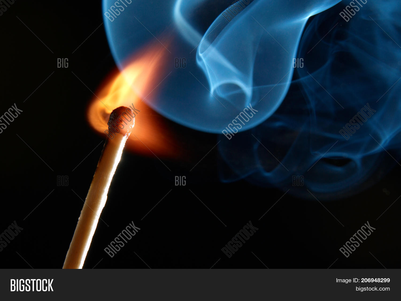 Match Smoke Fire On Image Photo Free Trial Bigstock