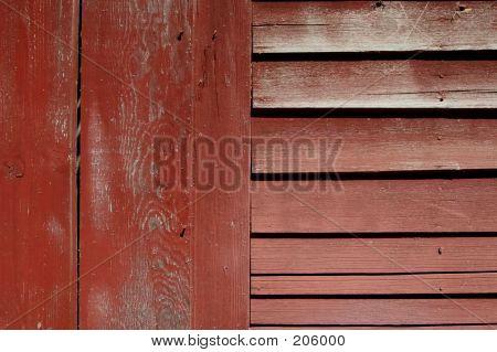 Rote Scheune Wand