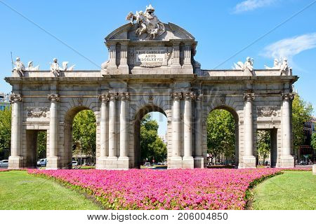 Puerta de Alcala or Alcala Gate,a monumental triumphal arch in Madrid and a symbol of the city