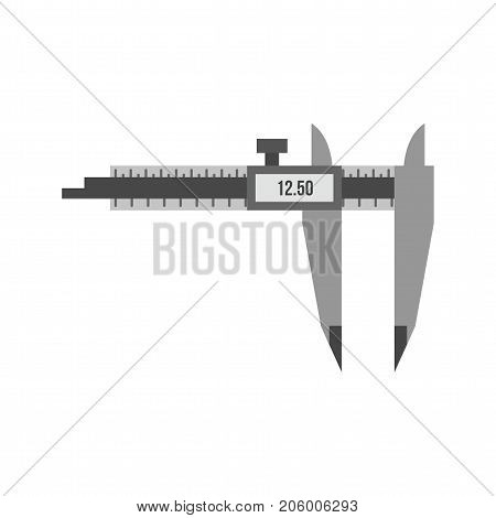 Caliper, measuring, tool icon vector image. Can also be used for Hand Tools. Suitable for use on web apps, mobile apps and print media