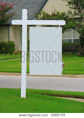 Real Estate Blank Yard Sign