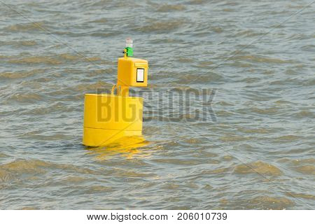 Postbox on the water (elbe, germany)