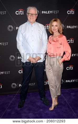 LOS ANGELES - SEP 12:  John Larroquette, Sharon Lawrence at the CBS - Me, Myself and I PaleyFest Fall Preview at the Paley Center for Media on September 12, 2017 in Beverly Hills, CA