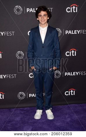 LOS ANGELES - SEP 12:  Jack Dylan Grazer at the CBS - Me, Myself and I PaleyFest Fall Preview at the Paley Center for Media on September 12, 2017 in Beverly Hills, CA