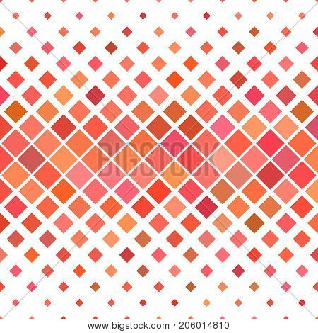 Red abstract square pattern background - geometric vector illustration from diagonal squares