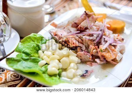 Peru South America - Ceviche is of Peruvian dish origin and consumed in Latin America.