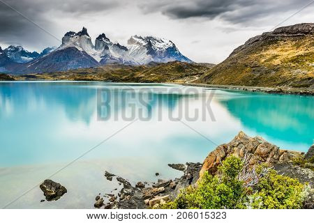 Patagonia Chile - Torres del Paine in the Southern Patagonian Ice Field Magellanes Region of South America