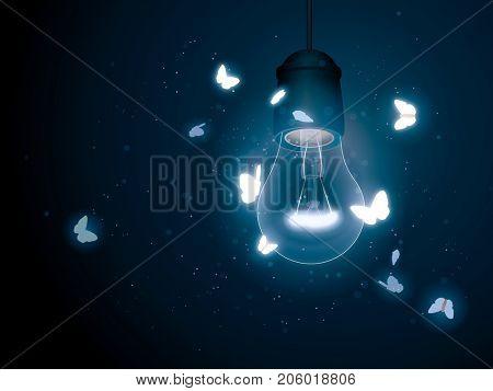 Bulb with moth