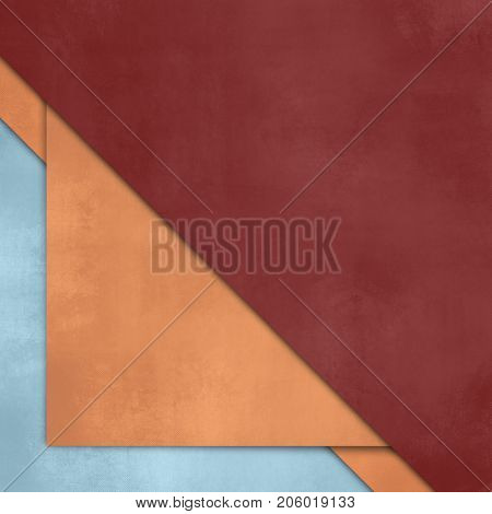 Simple background with red orange paper layers
