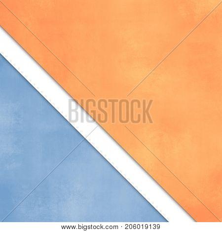Minimalist background with orange blue paper layers