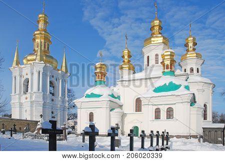 Kiev,Ukraine,  JANUARY 03, 2009: Kiev Pechersk Lavra,  Christmas temple