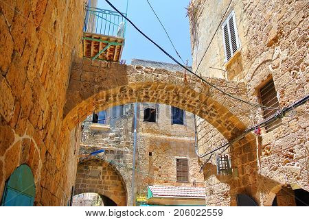 Tourist attraction of Israel. Akko. Ancient city in the region