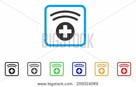 Medical Source icon. Flat iconic symbol in a rounded square. Black, gray, green, blue, red, orange color variants of Medical Source vector. Designed for web and software UI.