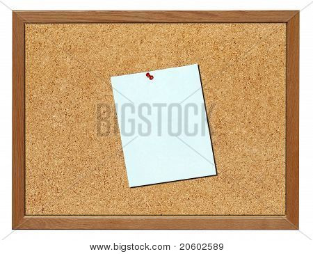 Cork board, isolated