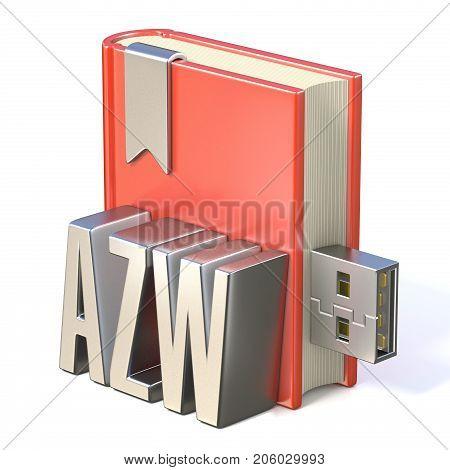 Ebook Icon Metal Azw Red Book Usb 3D