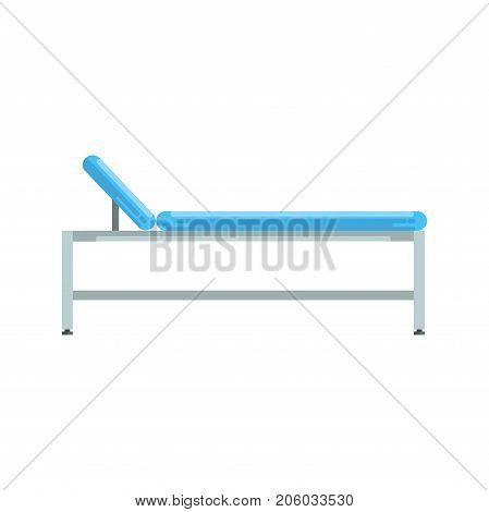 Hospital bed, medical equipment vector Illustration isolated on a white background