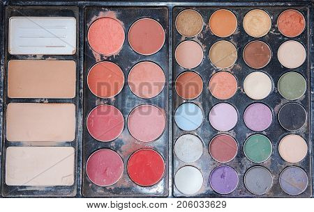 close up Make-up Set Palette with colorful
