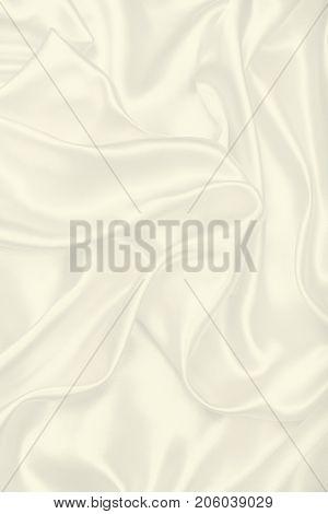 Smooth Elegant Golden Silk As Wedding Background. Soft Focus. High Key. In Sepia Toned. Retro Style
