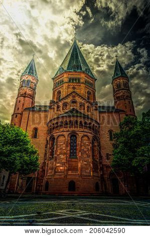 St. Martin's in Mainz. Germany - architecture background