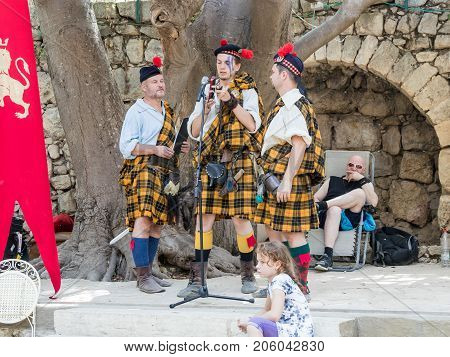 Jerusalem Israel September 23 2017 : Participants in the festival