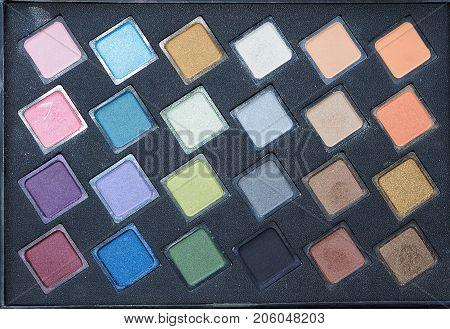 close up colourful of Make up Set