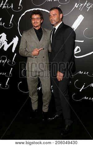 NEW YORK-SEP 13: Actors Pedro Pascal (L) and Liev Schreiber attend the