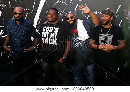 NEW YORK-SEP 13: Members of Linkin' Bridge attend the