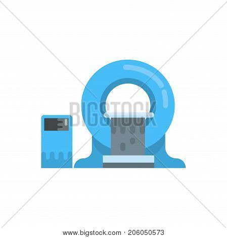 MRI diagnostic machine, nuclear magnetic resonance imaging tomography equipment vector Illustration isolated on a white background